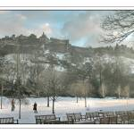 """Edinburgh Castle in the Snow March 2006"" by imagesbycadac"