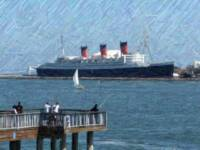 A Pier and the Queen Mary