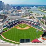 """Dayton Dragons Stadium"" by perfectperspectivesaerial"