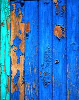Weathered Blue Door