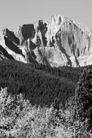 Longs Peak  Black and white image