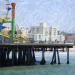 """Santa Monica Pier"" by kinnikinnickarts"