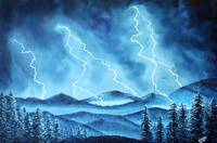 Lightning Storm in the Blue Mountains