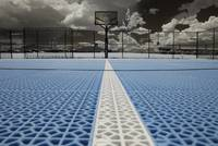 Basketball court at Miller Motorsports Park in Inf