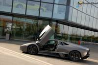 Reventon in front of Galleria Lamborghini