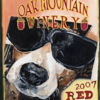 For Pete's Sake - wine label Art Prints & Posters by Kellie Straw