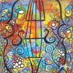 """Violin and Flowers"" by juliryan"