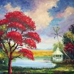 """Royal Poinciana Gazebo"" by mazz"