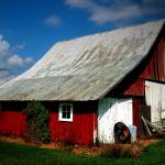 """A really red barn"" by amymillerphotos"