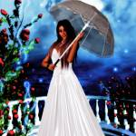 """Lady in white"" by mysticglendesigns"