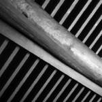 """Rippled Wood Beams 2 bw"" by DonnaCorless"