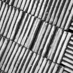 """Cement Pavement Tiles bw"" by DonnaCorless"