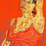 """Colored Contour pastel + digital"" by ajw"