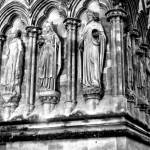 """Saints on the exterior of Salisbury Cathedral"" by davidflurkey"