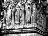 Saints on the exterior of Salisbury Cathedral