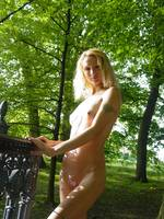 nude girl in trees