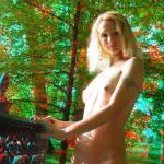 """nude girl in trees 3D"" by sophie_jc"