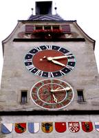 swiss clock tower