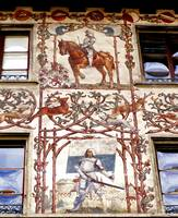 painted facade in lucern