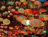 Lanterns in the Grand Bazaar, Istanbul, Turkey