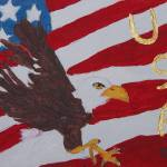 """Eagle USA Flag"" by MeMeBev"