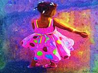 Twirling girl