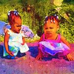 """Two little girls"" by cherylthomas"