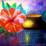 """Hibiscus Flower Painting"" by mazz"