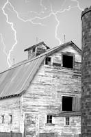 Old Barn Lightning