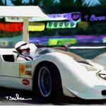 """Chaparral 2G, close up"" by ArtbySachse"