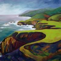 Big Sur 2, 350702 Konnie Kim Art Prints & Posters by Konnie Kim