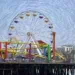 """""""Santa Monica Pier Ferris Wheel"""" by kinnikinnickarts"""