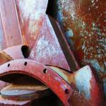 """abstrzct metal sculpture"" by pixelviz"