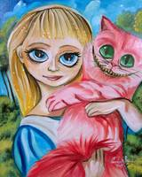 ALICE IN WONDERLAND ALICE WITH THE CHESHIRE CAT