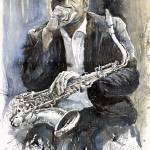 """""""Jazz Saxophonist John Coltrane"""" by shevchukart"""
