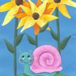 """""""Curious Garden Snail"""" by carliscorner"""