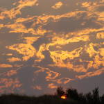 """OFFICE ART Sunlit Clouds Orange Sunset Twilight"" by BasleeTroutman"