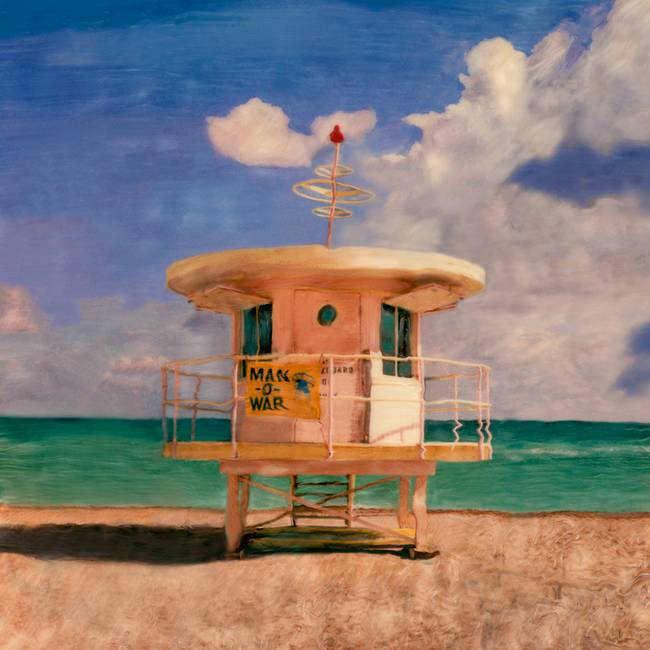 Lifeguard Tower Ventura California Painting by RG McMahon