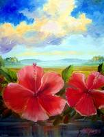 Hibiscus Oil Painting