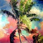 """Palette knife Palm Tree"" by mazz"