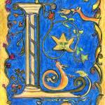 """Medieval Letter L"" by Lenora"