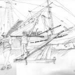 """""""Dockers in the port of Jakarta"""" by geronimo"""