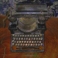 Old Typewriter on Brown Table