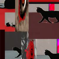 cats2 Art Prints & Posters by tulay cakir