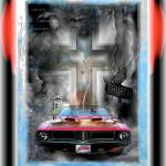 """11x14 Yeshua Rocks! (Jesus Take The Wheel) - Digit"" by Cwick"