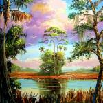 """Majestic Florida Landscape Painting"" by mazz"