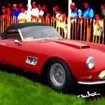 """""""1958 Ferrari 250 GT LWB California Spyder"""" by ArtbySachse"""