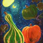 """Fall Squash Learning to Fly by Moonlight"" by SageRose"