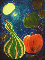 Fall Squash Learning to Fly by Moonlight