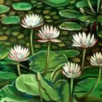 """""""Pond of Petals"""" by ElizaArt"""